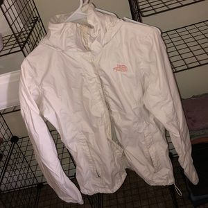 White North Face Raincoat